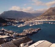 Hout bay harbor from the Sky