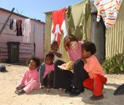 Children learning township